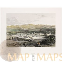 Tarsus Mersin Turkey Fine Antique Print Blackie & Son 1860