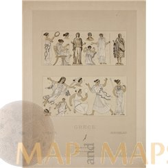Greece tradition dresses print by Firmin Didot 1860