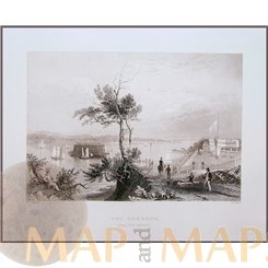 Fort Hamilton The Narrows New York Harbors Antique Prints Bartlett 1840