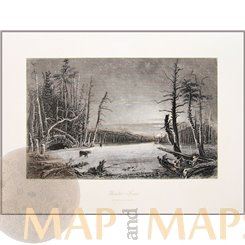 KAATERSKILL, GREENE COUNTY, NEW YORK, USA, ANTIQUE PRINTS BY BARTLETT 1840