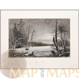 Kaaterskill Winter Scene On The Caterskill Bartlett Print 1840