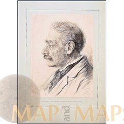 ROBERT RAUDNER, HIS FATHER, ORIGINAL ANTIQUE PRINT 1890