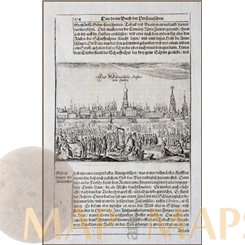 MOSCOW KREMLIN, RUSSIA, COPPER ENGRAVED LEAF/PRINT 1680