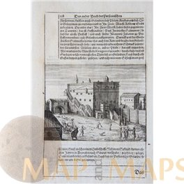 Castle Hechenrain, Uffing am Staffelsee DE antique engraving Michael Wening 1701