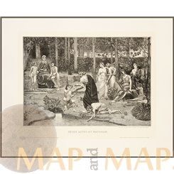 Inter Artes et Naturam Antique Art Print Chavannes 1891