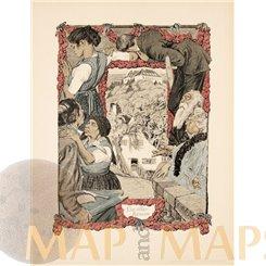 An Old Novel, Art Print Artist: R.M. Eichler 1900