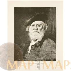 Portret of François Louis Français Old Print Baude 1890