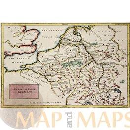Westasien Persien Iran Irak historische Landkarte Lithographie 1888 alter Druck
