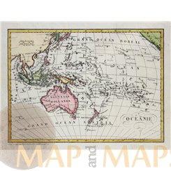 Australia & Oceans Indonesia Micronesia Dufour Map 1828