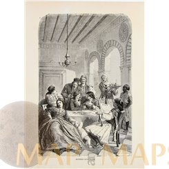 Greece, Modern Athenians Antique print Athens family 1878