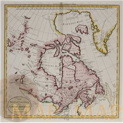 Canada Old map, British Colonies in North America. Guthrie 1785