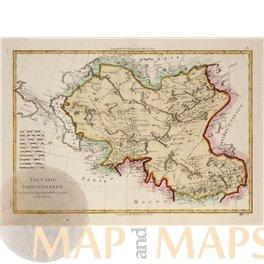 Tartarie Tibet old map Middle Asia by Rigobert Bonne 1787