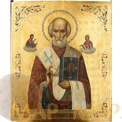 ST. Nicholas Russian 19th century Russian Icon.
