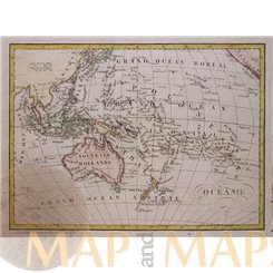 Oceania attractive old map of South Asia by Dufour 1830