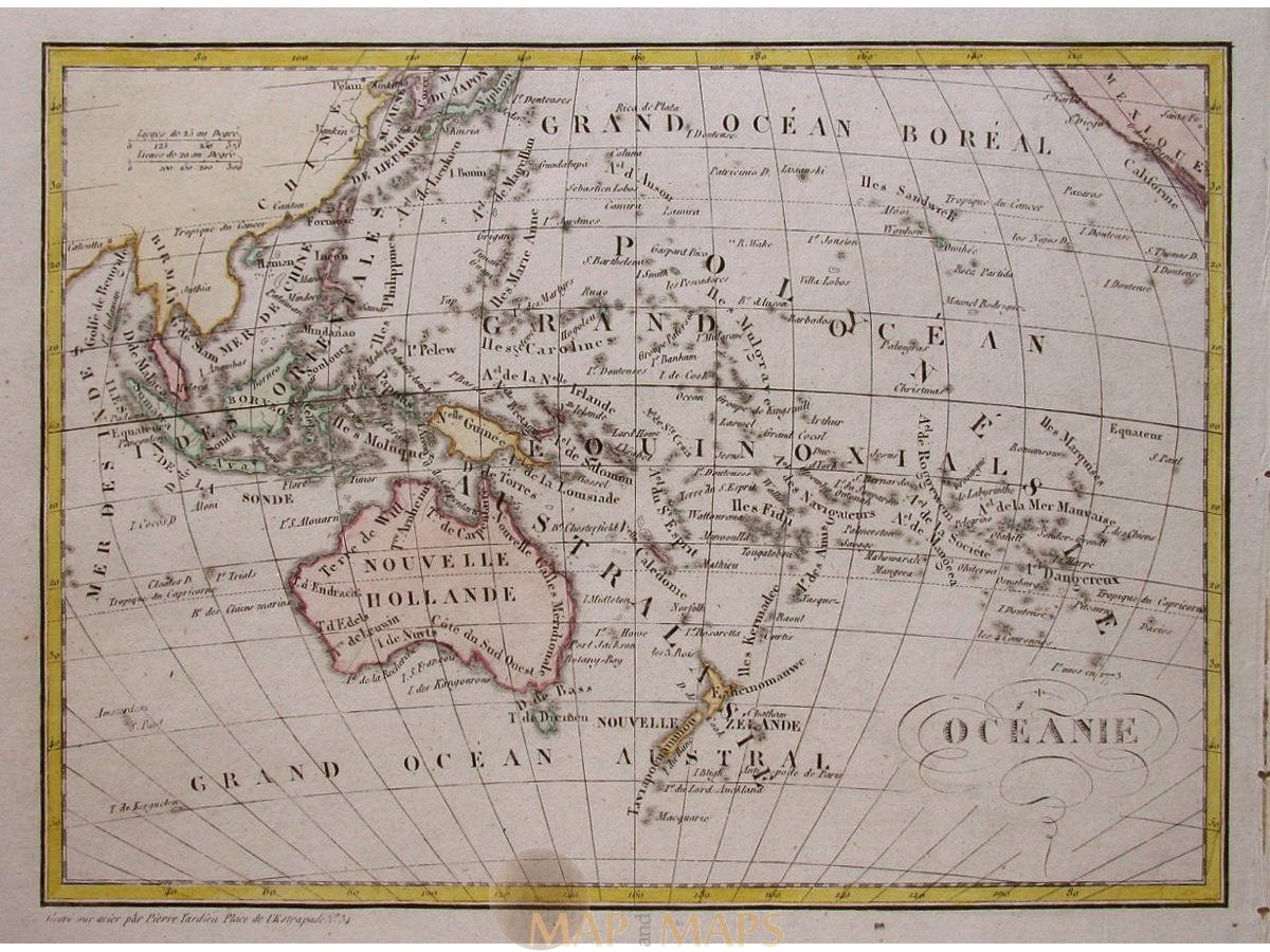Map Of Australia 1830.Oceania Attractive Old Map Of South Asia By Dufour 1830 Mapandmaps
