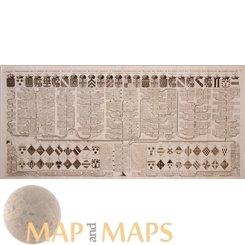 La Maison De Courtenay Old genealogical map France by Chatelain 1719