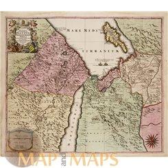Deserta Aegypti Thebaidi Arabiae Syriae Old map Seutter 1740