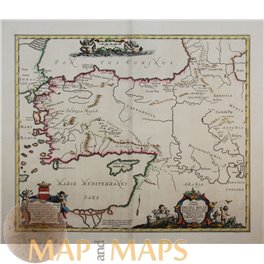Map Of Asia Minor.Decies Mille Old Map Of Asia Minor Cyprus Duval 1652
