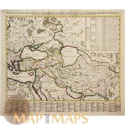 l'Histoire de l'Empire d'Orient Old map Persia Chatelain 1720