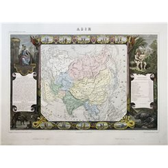 Asie Old map of Asia by Victor Levasseur 1859