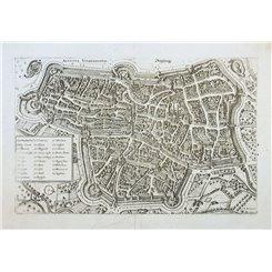 Augusta Vindelicorum Old map Augsburg Germany Merian 1646