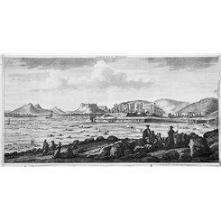 Persian Empire Seconde Vue Persepolis Old engraving De Bruijn 1718