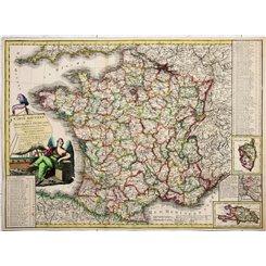 République Française French scare old map Claumier/Basset 1797
