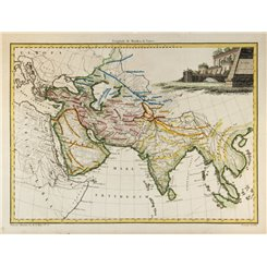 Asia in Antiquity Old map Asie by Malte Brun/Lapie 1812.