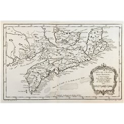 Canada map Nova Scotia Cape Breton Prince Edward Bellin 1757