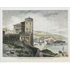 Vue de Trébizonde Anatolia Crimea antique print 1882