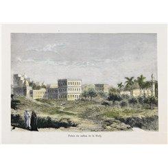 Palais du Sultan de la Hadj antique Islamic prints 1882