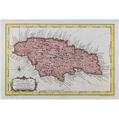 Jamaica maps. Carte De L' Isle De La Jamaique Bellin 1758