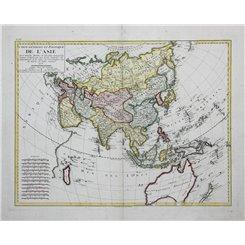 Asia maps old map L'Asie Atlas Chanlaire – Mentelle 1798