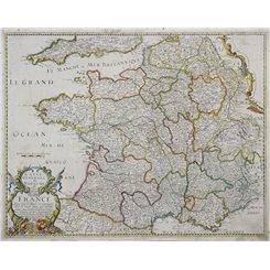 France map. Carte Generale du Royaume de France… Sanson/Melchior 1658