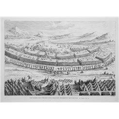 Bible History. Victoire des Israelitess. old print Calmet 1724