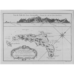 Chile maps. Juan Fernandez Islands Robinson Crusoe Bellin 1754