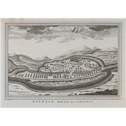 Cambodia map. Eauweck Capitale Camboye Lungvek map Bellin 1753