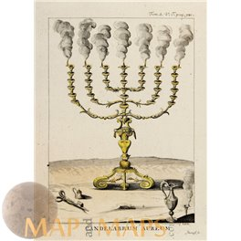 CANDEL ABRUM AUREUM THE MENORAH ABRAHAM GOLDEN CANDLE CALMET 1789