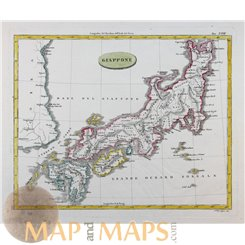 Japan maps. Giappone. 日本地図 Old map Barbiellini 1807
