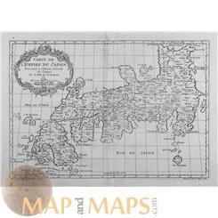 Japan map Carte de L'Empire du Japon Old map Japan Bellin 1752