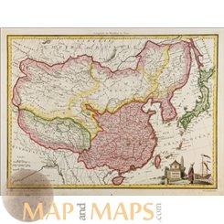 China Japan map Empire Chinois et Japon Malte Brun 1812