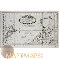 Carte Reduite Des Parties Septentrionales Du Globe Bellin 1758