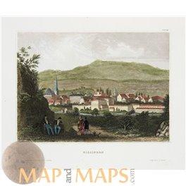 Bad Kissingen Bavaria Antique Print Meyers 1850