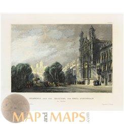 Spain, Alameda monastery Antique Prints Meyer 1850