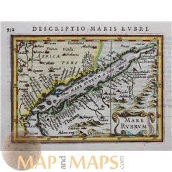 Mare Rubrum Bertius 1616 Atlas Jodocus Hondius Red Sea