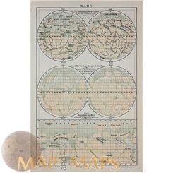 General map of Mars observation 1882 – 1888. - Meyer 1905