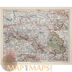 Silesia Poland Czech Republic Old map Meyer 1905