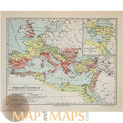 The Roman Empire Old map Europe by Joseph Meyer 1905
