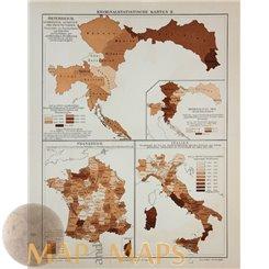 Criminal statistics Maps - Meyer 1905