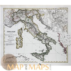 Italy map during the Holy Roman Empire Spruner 1846